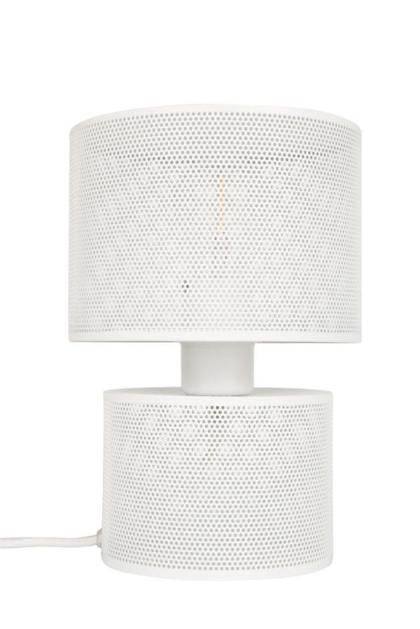 zuiver grid tafellamp wit