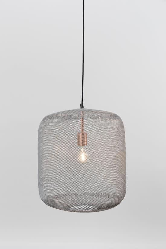 zuiver mesh hanglamp grijs