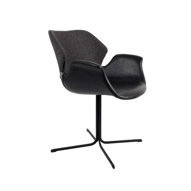 zuiver nikki armchair fab black