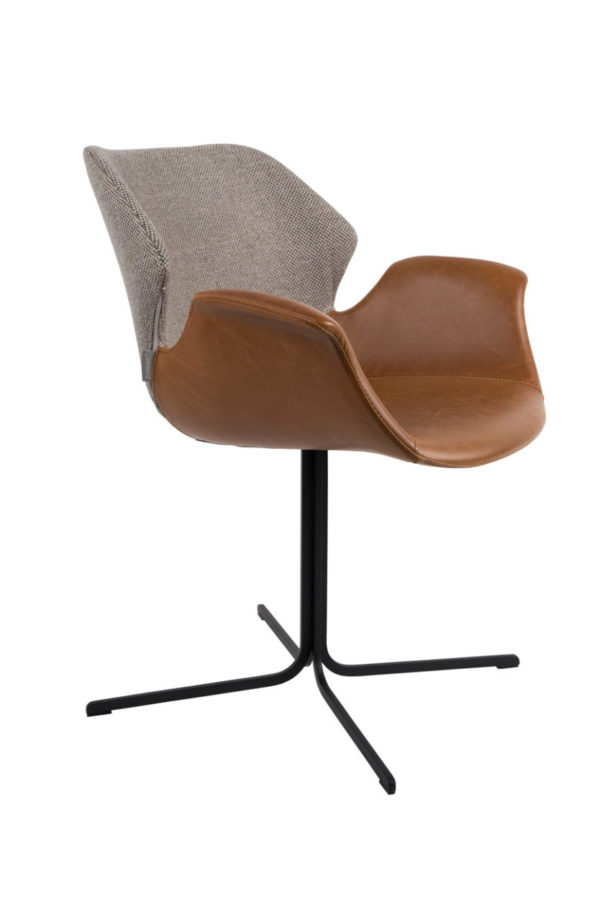 zuiver nikki armchair fab brown
