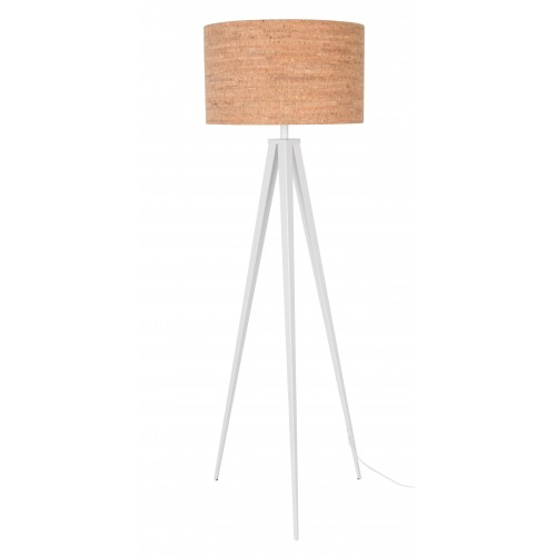 zuiver tripod cork wit vloerlamp