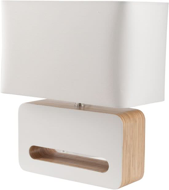 zuiver wood tafellamp wit