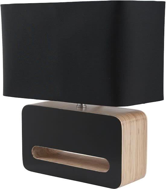 zuiver wood tafellamp zwart