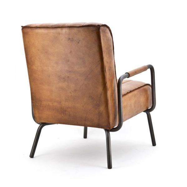 Eleonora Marvin fauteuil cognac achterzijde