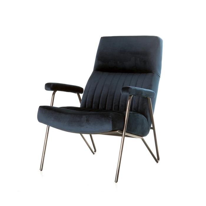 Eleonora william fauteuil blauw velvet