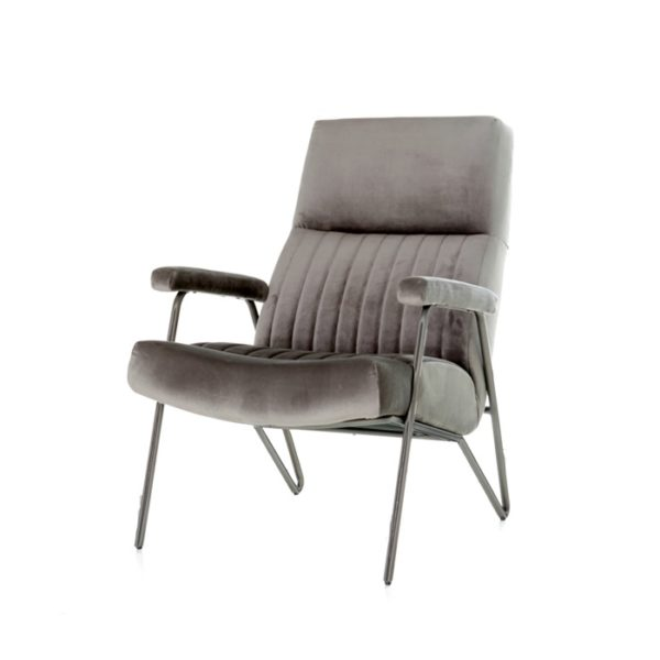 eleonora william fauteuil grijs velvet