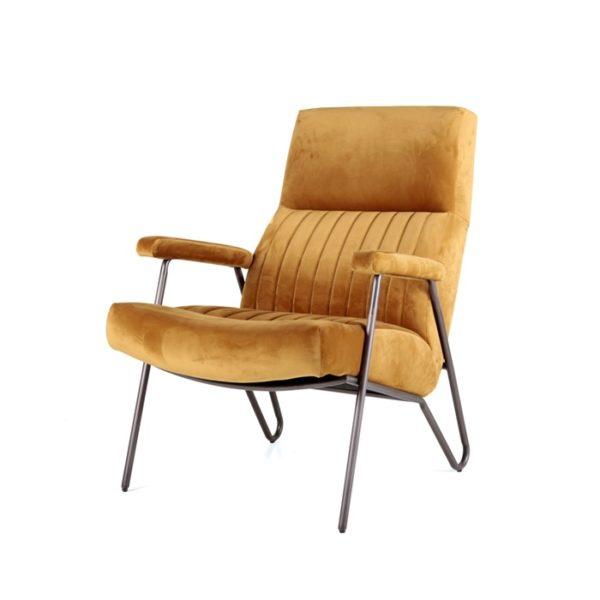 eleonora william fauteuil oker velvet