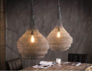 Mesh trechter hanglamp set van twee