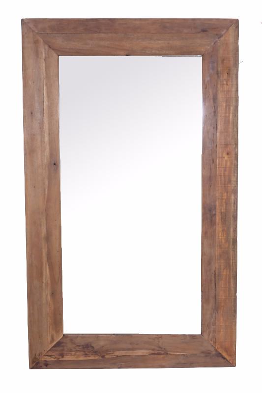 Spiegel 120x90 cm Oud Hout Naturel 15 cm Frame