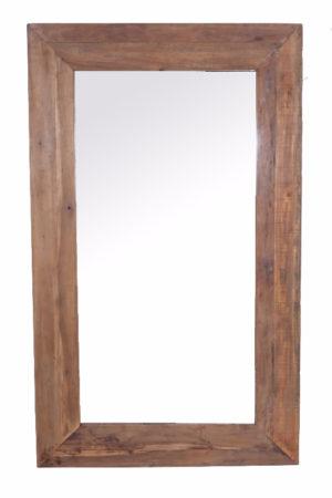 Spiegel 150x90 cm Oud Hout Naturel 15 cm Frame