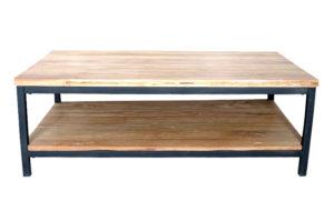 Yukon Salontafel 120x70 cm Teak Metaal Zwart