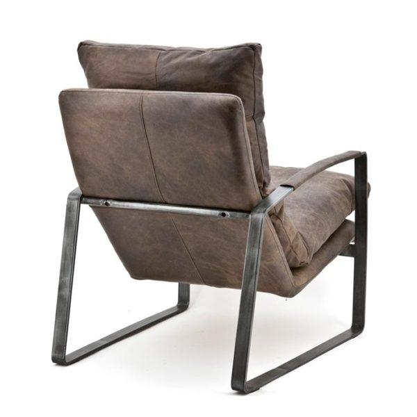 eleonora lex fauteuil donkerbruin achter