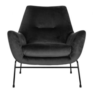 mysons chevy fauteuil velvet antraciet