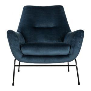 MySons Chevy fauteuil velvet blue ink