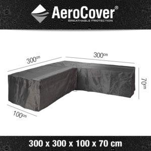 Aerocover Loungesethoes L-Shape 300x300x100x70 7943