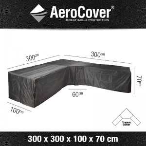 Aerocover Loungesethoes Trapeze L-Shape 300x300x100x70 7952