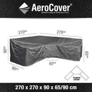 Aerocover loungesethoes hoekset hoge rug L-Vorm 270x270x90 65-90cm
