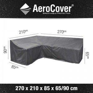 Aerocover loungesethoes L-Vorm Links 270x210x85x65-90 cm 7990
