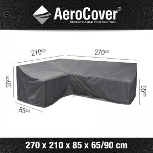 Aerocover loungesethoes hoge rug L-Vorm Links 270x210x85x65-90 cm