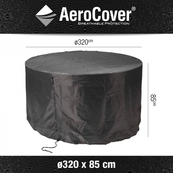 Aerocover tuinmeubelhoes tuinset rond Ø320xH85 cm