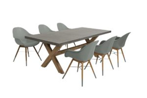 Beach 7 Diningset Chamonix 7-delig Laurel Green