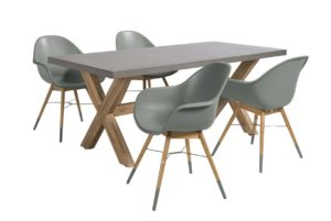 Beach 7 Diningset Chamonix 5-delig Laurel Green