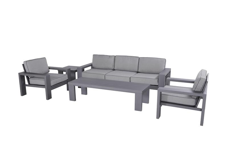Hartman Loungeset Titan Aluminium Seal Grey