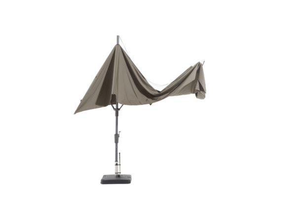 Madison Parasol Asymetric Sideway 360x220 Grey