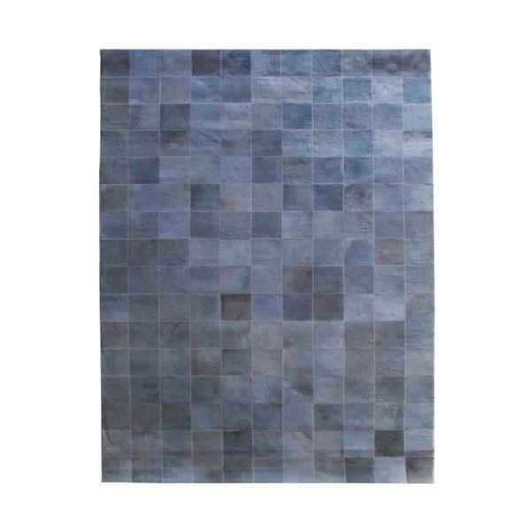 by boo patchwork leer vloerkleed 160 x 230 cm grijs