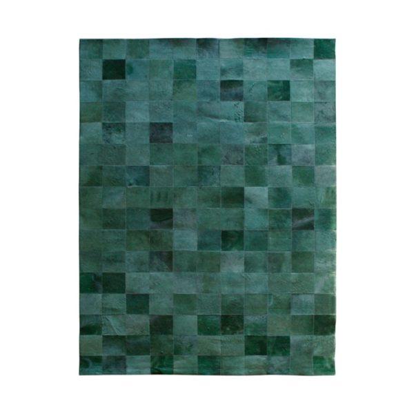 by boo patchwork leer vloerkleed 160 x 230 cm groen
