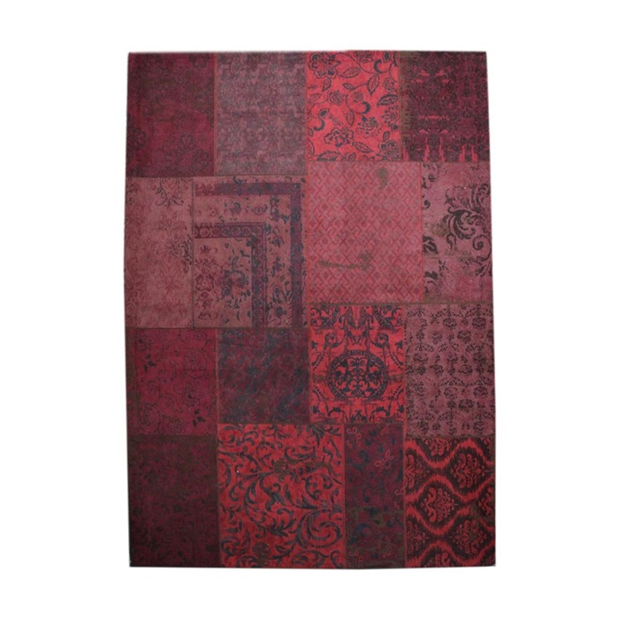 by boo patchwork vloerkleed rood 170 x 240 cm