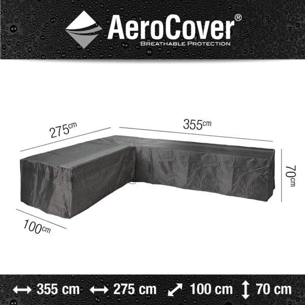 Aerocover loungesethoes hoekset 355x275x100x70 cm rechts