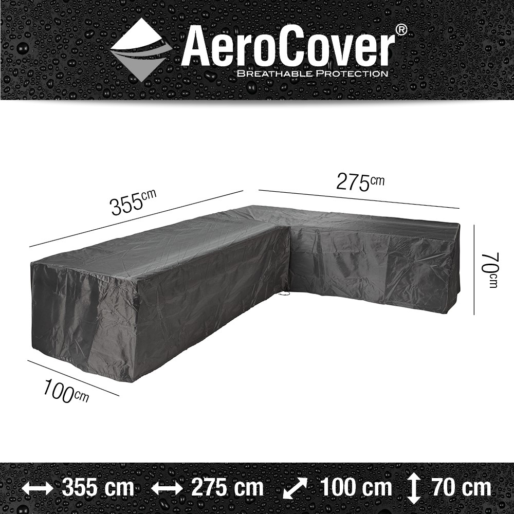 Aerocover loungesethoes hoekset 330x255x100x70 rechts