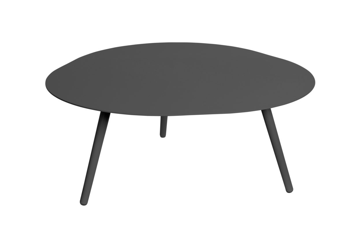 Beach 7 Salontafel Smile Aluminium Black 90 cm