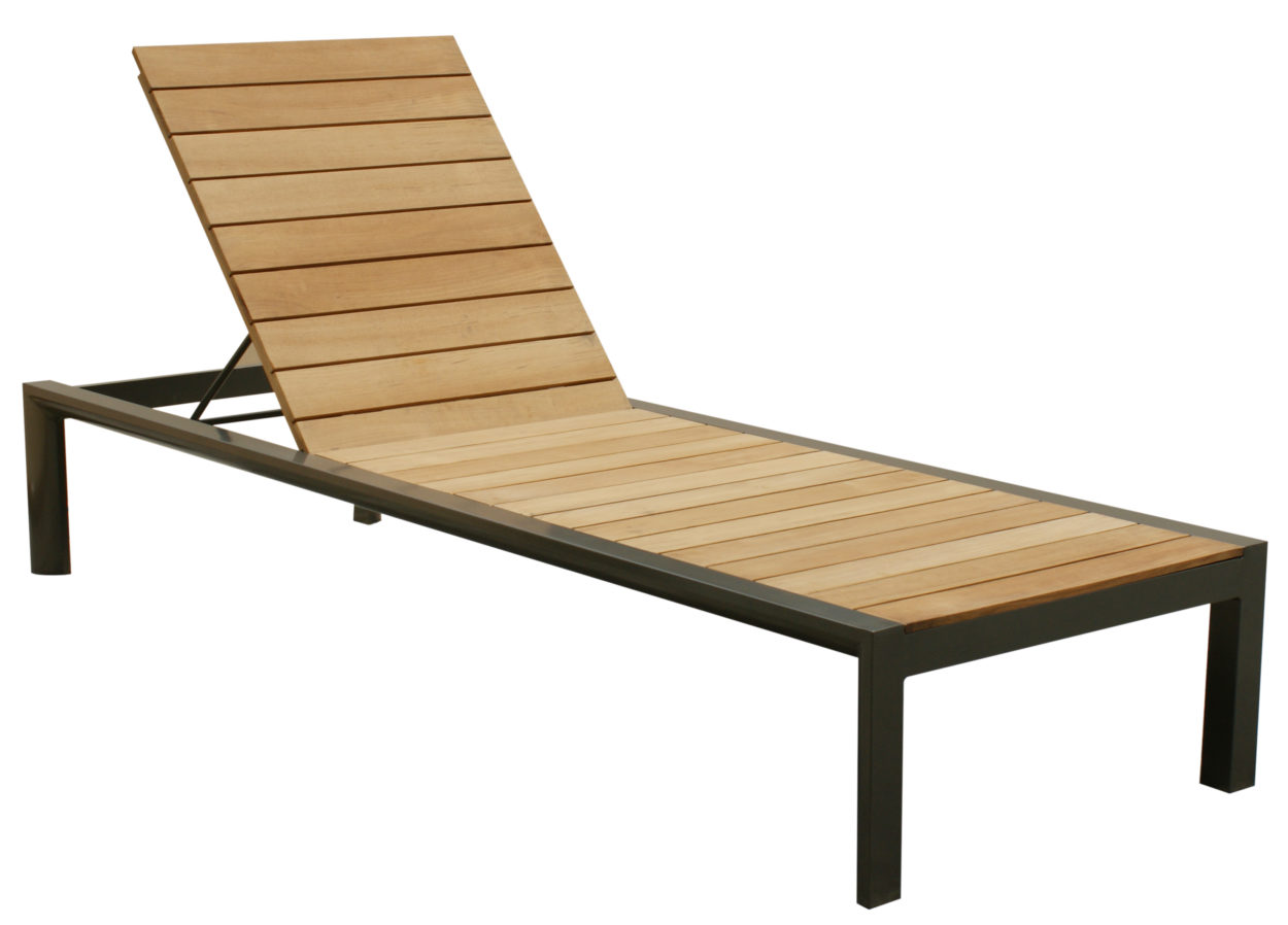 Beach 7 Cannes Ligbed Matt Grey Teak