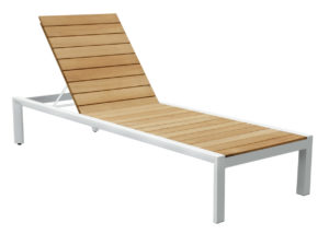 Beach 7 Cannes Ligbed White Teak