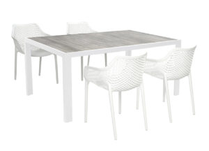 Beach 7 Diningset Air XL Wit 5-Delig