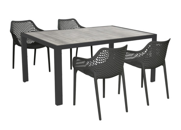Beach 7 Diningset Air XL Zwart 5-Delig