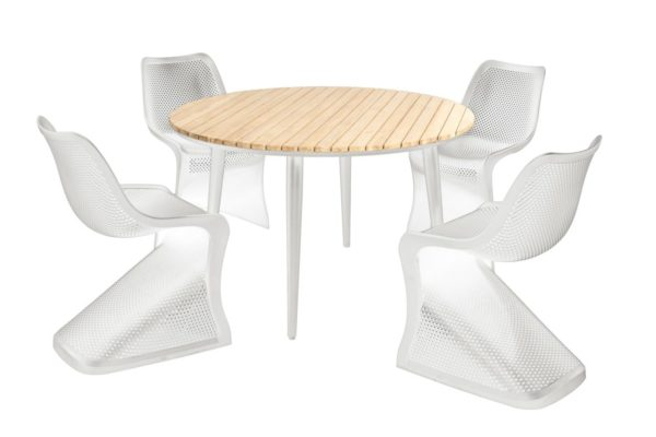 Beach 7 Diningset Bloom Fontelina Wit 5-Delig