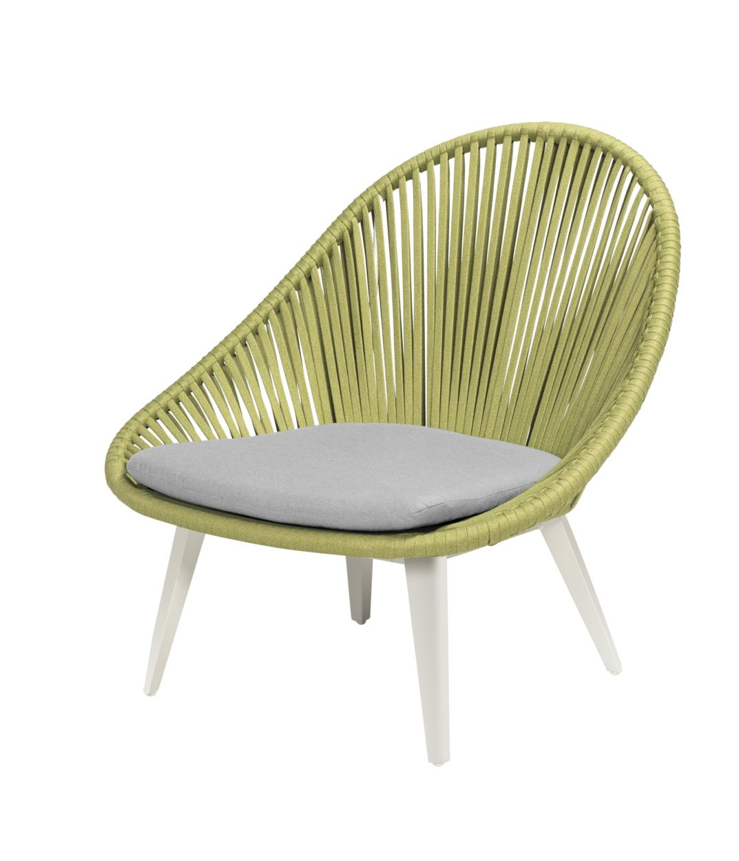 Beach 7 Loungechair Dino Egg Aluminium Rope Apple Green
