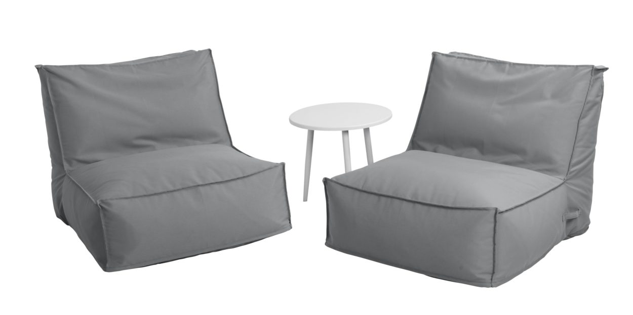 Beach 7 Loungeset Beanable Stone Grey 3-Delig