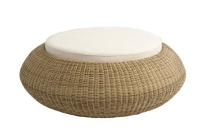 Beach 7 Ottomano Pouf 100 cm Nature