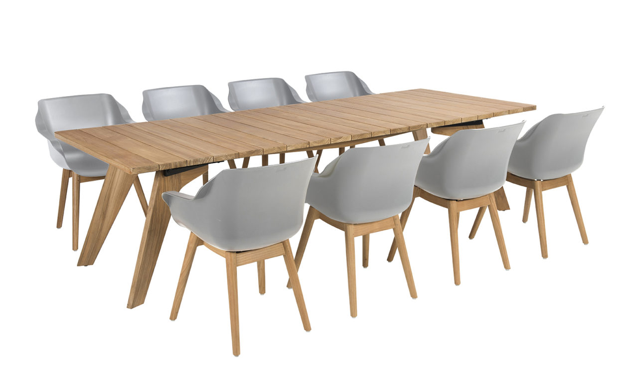 Beach 7 Tuinset Sophie Teak Misty Grey Bo Tafel