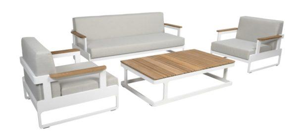 Beach 7 Loungeset Cube Aluminium Teak 4-Delig
