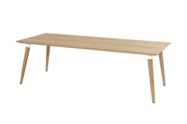 Hartman Sophie teak tafel 240x100 cm Teak poot wit