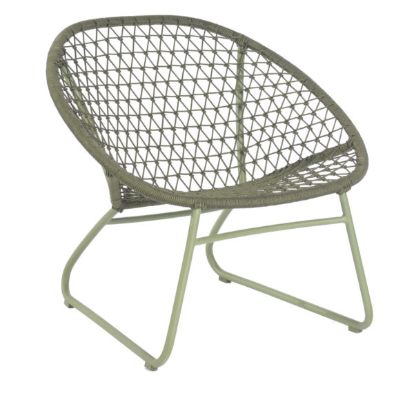 Max & Luuk Bella Occasional Chair Rope M4052 Moss