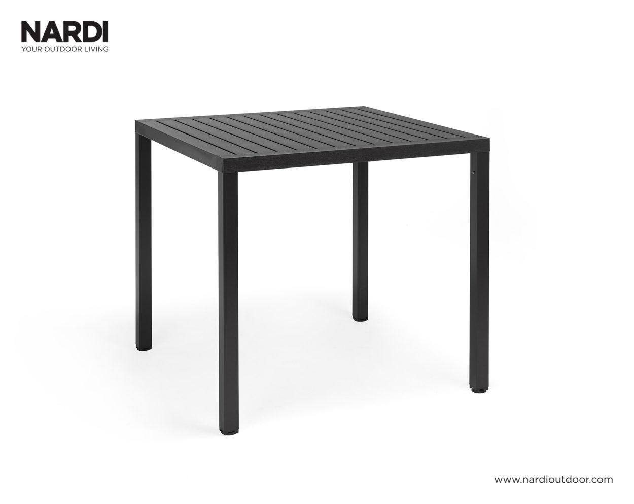 Nardi Tuintafel Cube 80x80 cm Antraciet