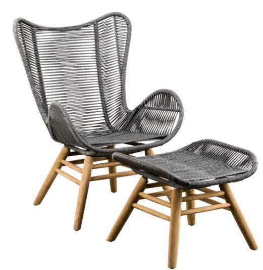 Suns Loungechair Kreta + Hocker Eucalyptus Rope