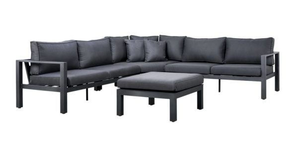Suns Loungeset Martinique 4-Delig Matt Royal Grey