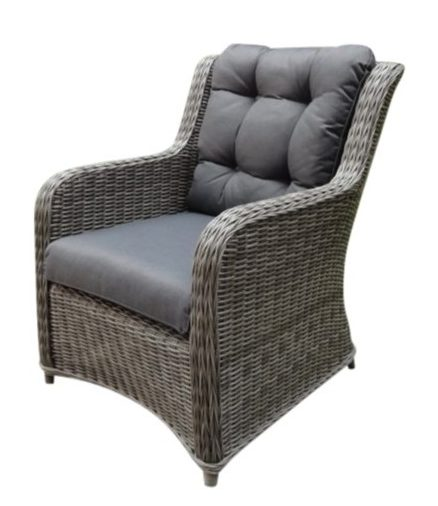 Suns Loungechair Almeria Wicker Ash Grey